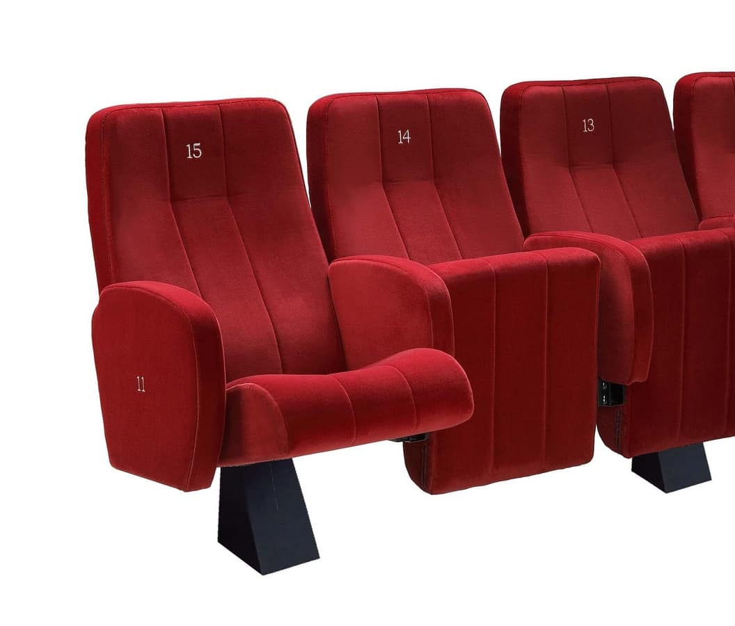 Comfort Plex, Feuerfeste gepolsterte Stuhl, für die Kinosäle