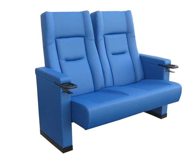 Comfort Rimini love seat, Polster Polyurethan Sessel für Kinos