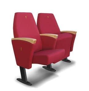 Gonzaga G, Sessel mit Klappsitze für Konferenzräume