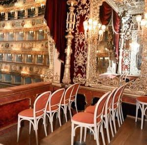 La Fenice Theatre in Venice, Maßgeschneiderte Stühle für Theater, La Fenice in Venedig