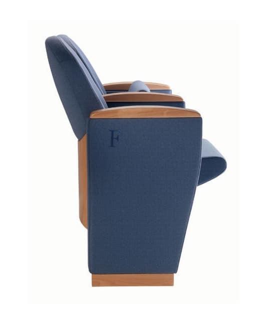 METROPOLITAN OPERÁ, Renommierte Sessel mit klassischen Linien, für Auditorien, Theater, Konferenzsäle