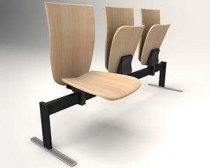 VEKTEN A181 LOW BACK, Sitz auf Balken mit hochklappbarem Sitz