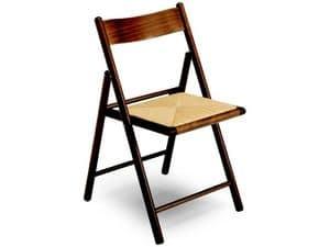 185 F , Faltbare Stuhl, mit Sitzfläche, für Restaurant