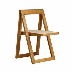 Ciak 5188, Klappstuhl aus Holz, Sitz aus Leder