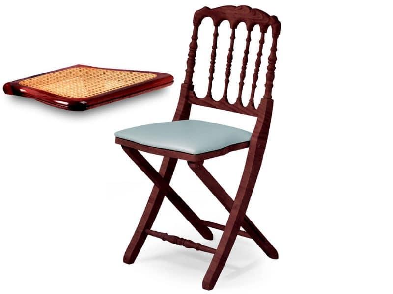 Impero, Platzsparende Stuhl mit Rückenlehne dekoriert