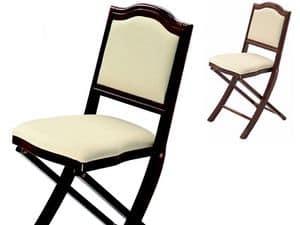Iris, Polsterstuhl, klappbar, mit einem klassischen Design