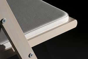Kate, Holz-Klappstuhl, gepolsterte Sitzfläche, für Veranstaltungen