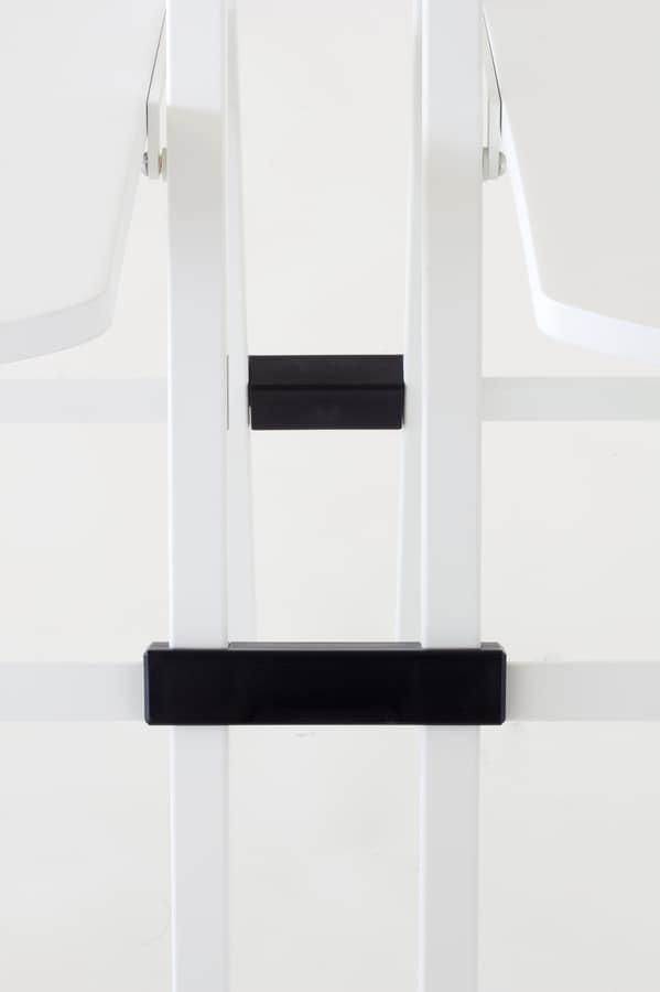 Pocket plastic, Vielseitig Klappstuhl, Metallgestell, Sitz und Lehne aus farbigem Polypropylen