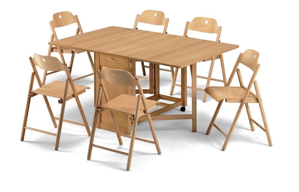 Stoppino, Holzstühle, Klapp, für den Objektbereich
