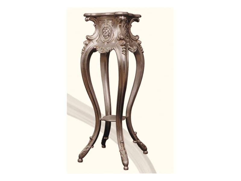 Columns art. 309, Säule für Vasen, aus Lindenholz, im Stil Louis XV