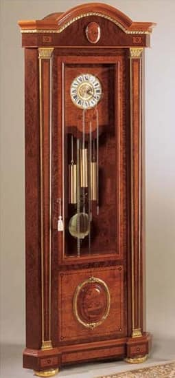 IMPERO / Grandfather corner clock , Standuhr aus Esche, Luxus im klassischen Stil