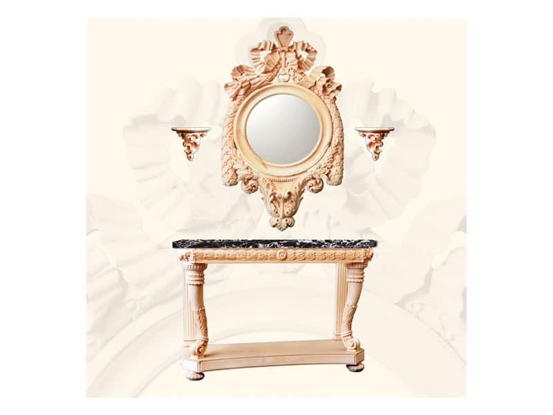 Shelfs, Regale von dekorierten Lindenholz gefertigt, klassischen Stil