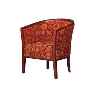 420, Wanne Stuhl in Buche, gepolstert, für Wartebereich