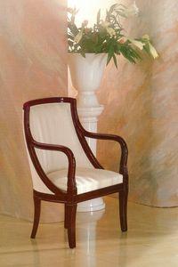 Art. 210, Sessel aus massivem Mahagoni