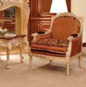 Art. 735/P, Handgeschnitzter Sessel mit klassischem Stil