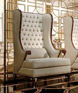 Art. Lira, Klassischer Sessel mit hoher Rückenlehne