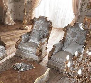 Barone Sessel, Klassischer Sessel mit hoher Rückenlehne