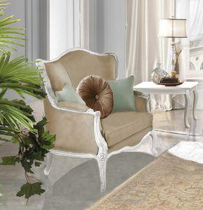 Giulietta Art. 3706 - 3906, Sessel mit Schnitzereien
