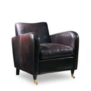 Jennifer, Vollnarbenleder Sessel ideal für Wohnzimmer