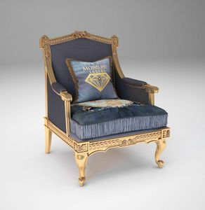 Margot Sessel, Klassischer Sessel mit Goldfinish