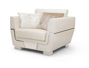 MONTE CARLO / Sessel, Natürlicher Ledersessel