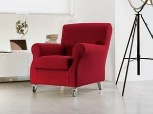 Novecento, Luxuriöse Sessel aus Polyurethan, mit Rädern, für Arztpraxis