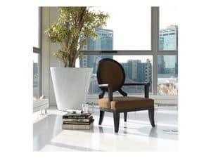 Relax, Sessel aus Buchenholz mit gepolsterter Rückenlehne oval