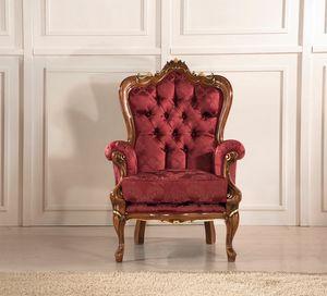Rex Sessel, Sessel mit dekorativen Schnitzereien