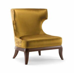 ROSE LOUNGE CHAIR 066 P, Sessel mit umhüllender hoher Rückenlehne