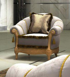 Zaffiro Art. 8231, Klassischer geschnitzter Sessel