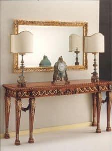 2790 KONSOLE, Consolle in Holz geschnitzt, luxuriös klassischen Stil