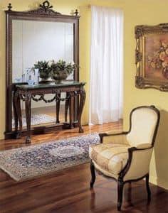 3160 CONSOLE, Luxus klassischen Konsolen, handgeschnitzt, Marmor
