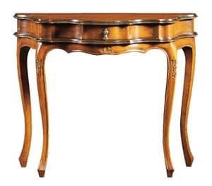 Annalisa FA.0005, Barock-Konsole mit zentraler Schublade, für Umgebungen im klassischen Stil