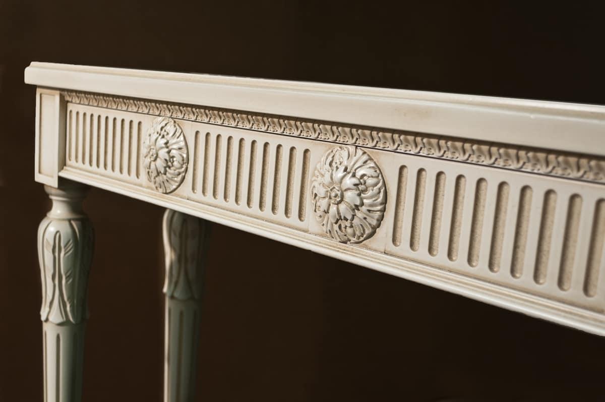 Art. 730 Colette, Klassische Konsole, in Wiens Stroh und Kristall, Louis XVI Stil