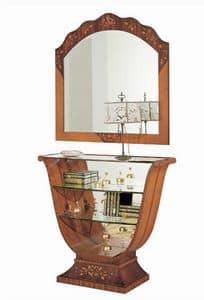 C606 Millennium Konsole, Intarsien-Konsole, klassischen Luxus, Spiegel zurück