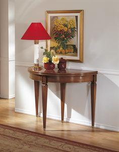 Erweiterbarer Konsolentisch, Konsole umwandelbar in einen runden Tisch