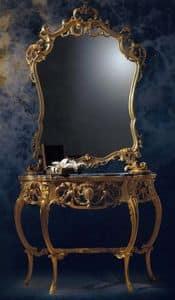KONSOLE ART. CL 0060 + CR0052, Geschnitzte Konsole im klassischen Luxus-Stil für Wohnzwecke