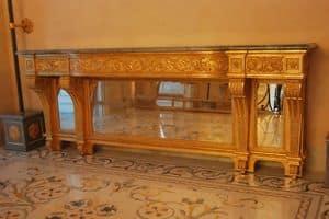 KONSOLE ART. CL 0061, Neoklassischen geschnitzten Konsolen-Tisch, für Hotels