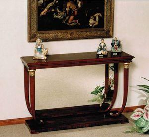 M 400, Konsolentisch im Empire-Stil mit Holz- oder Marmorplatte