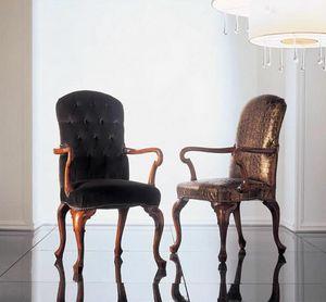 110P, Geschnitzter Stühle Mit Armlehnen Wohnraum