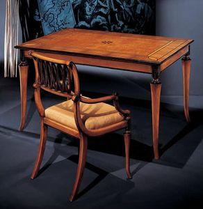 164PT, Geschnitzter Stuhl mit Armlehnen