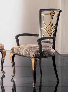 232PT, Klassischer Stuhl mit Armlehnen