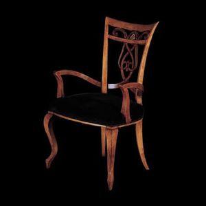 250P, Gepolsterter Stuhl mit Armlehnen