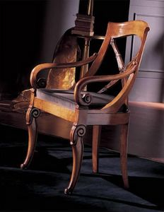 252P, Stühle mit Armlehnen, zurück gekreuzt