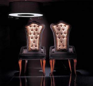 264PI, Geknöpfter Stuhl mit hoher Rückenlehne