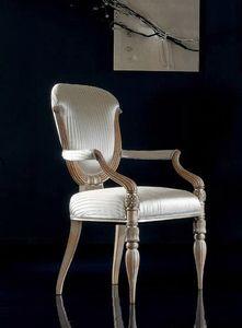 280P, Stühle mit Holzarmlehnen