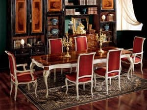 Anzeige Sessel 838 P, Sessel für Esszimmer, klassischen Stil