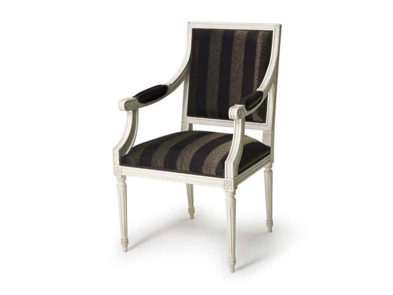 Art.103 armchair, Sessel für Hotels und Restaurants, Stil Louis XVI