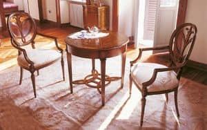 Art. 1067/A, Leiter Tisch Sessel mit Arm, geschnitzt, für die Gaststätten
