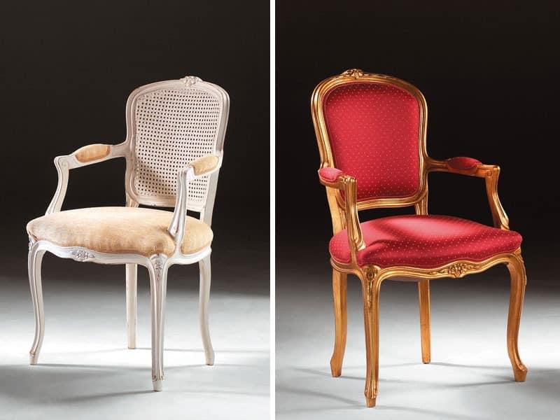 Art. 1430, Stuhl Kopf des Tisches, im klassischen Stil, gepolsterte Armlehnen